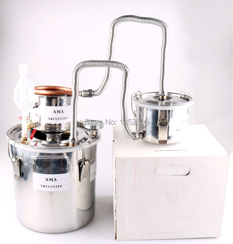 10L ~ 100 Litres DIY 3 Pots Nouvelle Maison Alcool Moonshine Encore Esprits Inoxydable Cuivre Distillateur D'eau Vin Huile Essentielle Brew Kit
