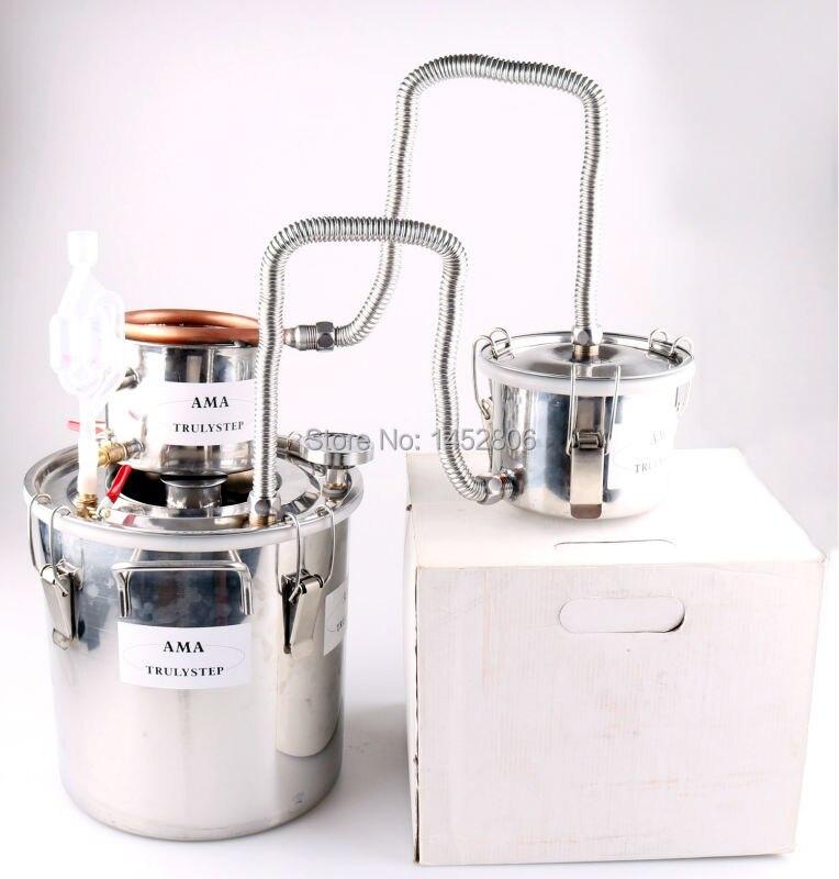 10L ~ 100 Litri FAI DA TE 3 Pots Nuova Casa Alcool Moonshine Still Spirits In Rame Acqua Distiller Vino Olio Essenziale Brew Kit