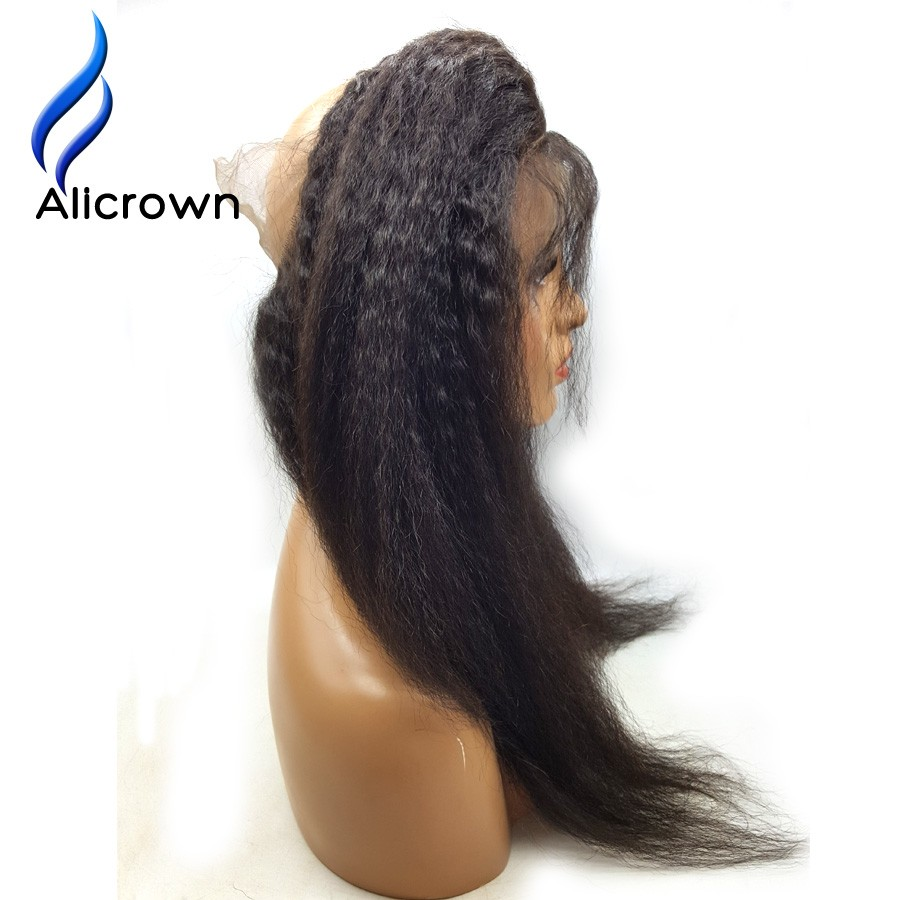 Alicrown Kinky Straight Brazilian Lace Frontal Closure For Sale With Baby Hair Lace Frontal 360 Lace Virgin Hair 22.5x4x2 (5)