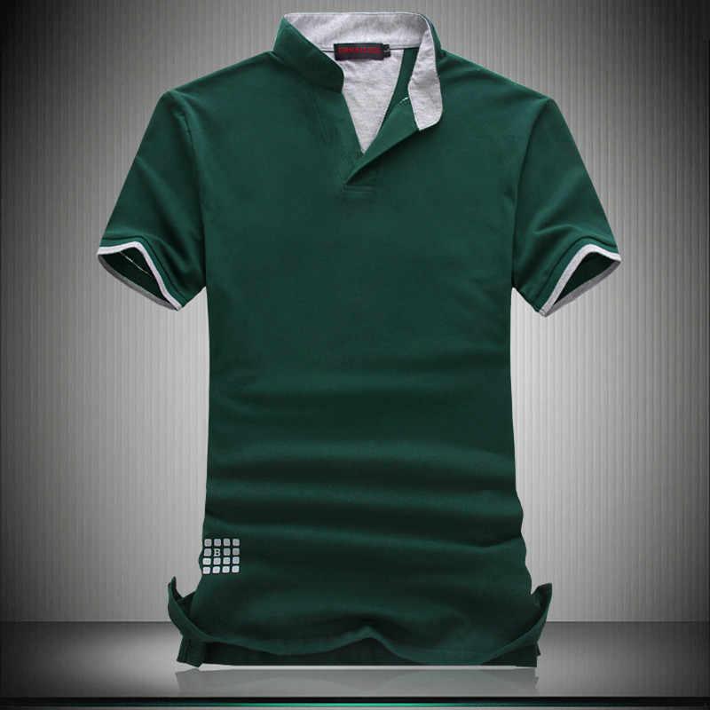 a5a30a29 ... Brand Designer POLO Men 7XL 6XL Hot Sale 2018 Summer Short Sleeve Polos  Solid V-