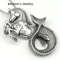 Mermaid horse Silver 316L Stainless Steel Mens Pendant necklace pendants for jewelry KP077