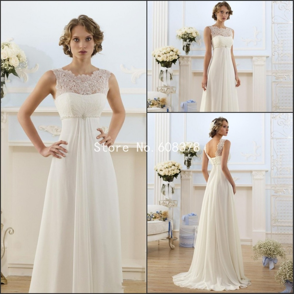 Online Shop Elegant A Line Wedding Dress Sheer Neck Capped Sleeve ...