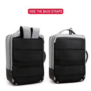 Image 3 - Mochila de viagem masculina, antirroubo 15.6 laptop Polegada bolsa masculina para notebook usb impermeável
