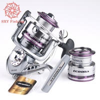 FREE SHIPPING ERS1500-3000 All metal body 9 shaft Fishing force 10kg double Line cup Deep-sea fishing Towing wheel lure wheel