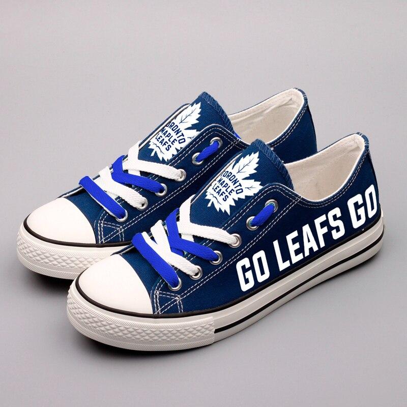 Popular Canada Leafs Print Low Top Canvas Shoes Graffti