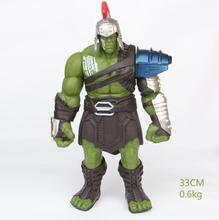 35cm Big Size Avengers Marvel Thor 3 Ragnarok Hands Moveable War Hammer Battle Axe Gladiator Hulk BJD Action Figure Model Toy