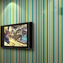 Papel де parede. современный ребенок красочные вертикальная полосатый обои ролл пвх виниловых обоев стены фон обои декор f