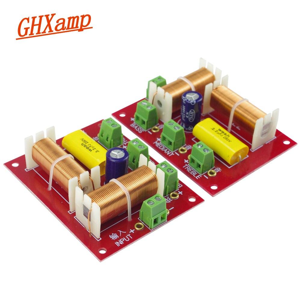 Altavoz GHXAMP 200 W 3 vías Cruce de Audio trible + MID + graves independiente de cruce de altavoces filtro divisor de frecuencia 2 piezas