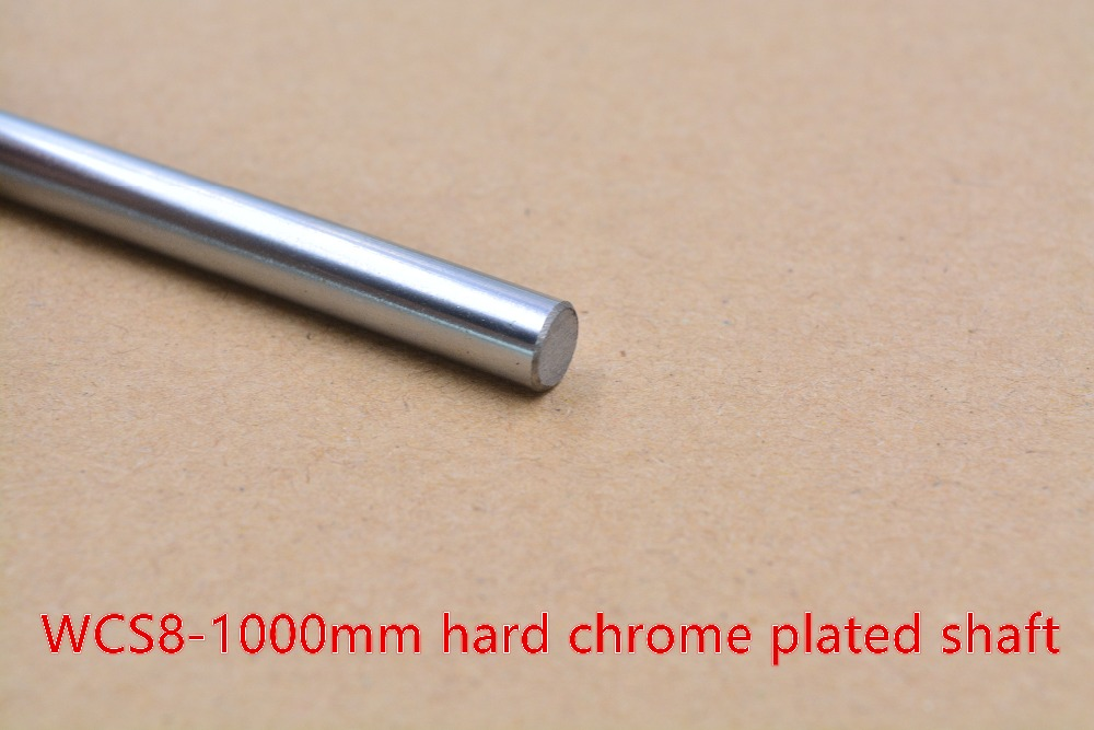 3D Printer Rod Shaft WCS 8mm Linear  Length 1000mm Chrome Plated  Guide Rail Round   1pcs