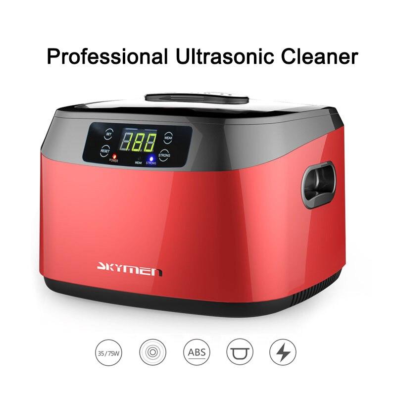 1.2L Ultrasonic Cleaner Household Professional Digital Timer Polishing Machine 110V 220V Jewelry Waterproof Watch Cleaning Tool
