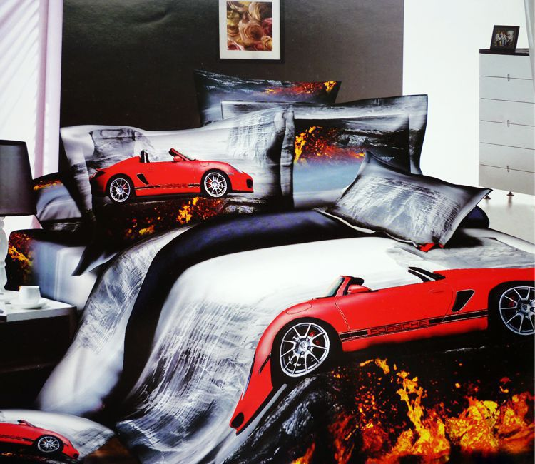 Race Cars Car Cotton Bedding Set Queen Size Bedspread Duvet Cover Bed In A Bag Sheet Fashion Home Oil Painting Sets From Garden On