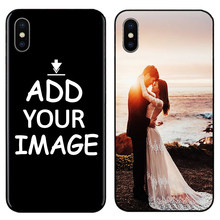 DK Custom Personalized Make your pattern images Photo Phone Black Sotf TPU Cover Case for iPhone 6 6S 7 8 Plus 5s 5 X XR XS MAX(China)