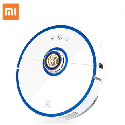 S52 Mi Roborock Vacuum Cleaning Sweeping Robot Centennial <font><b>Inter</b></font> <font><b>Milan</b></font> Custom Edition with Football Star Voice Package image