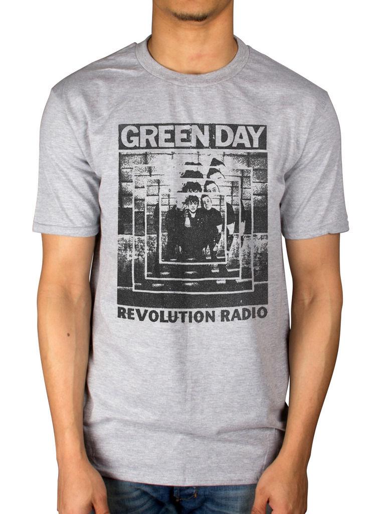 Зеленый День Мощность выстрел Футболка American Idiot Революции Радио маска группы Для мужчин короткий рукав Футболка