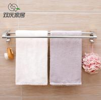 Magic Sticker Max Loading No Nail Aluminum Towel Two Bar Kitchen Bath Towel Holder Bathroom Towel
