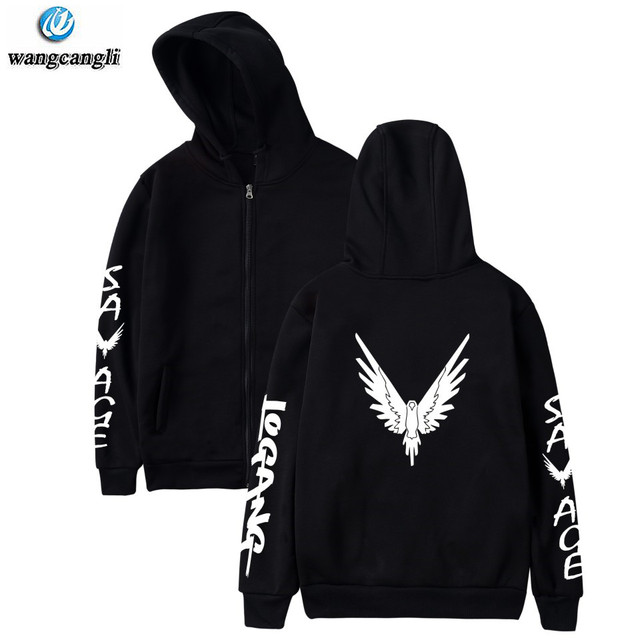 a16a3da2e Logan Paul Maverick Bird zipper hoodies men women autumn winter ...