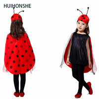 HUIHONSHE Halloween Costume For Kids Anime Cosplay Costume Children Ladybug Dress Insects Party Performance Clothing