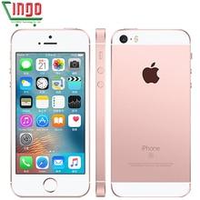 """Разблокированный Apple iPhone SE сотовые телефоны LTE 4,"""" 2 Гб Оперативная память 16/64GB Встроенная память чип A9 iOS 9,3 двухъядерный мобильный телефон с определением отпечатка пальца"""