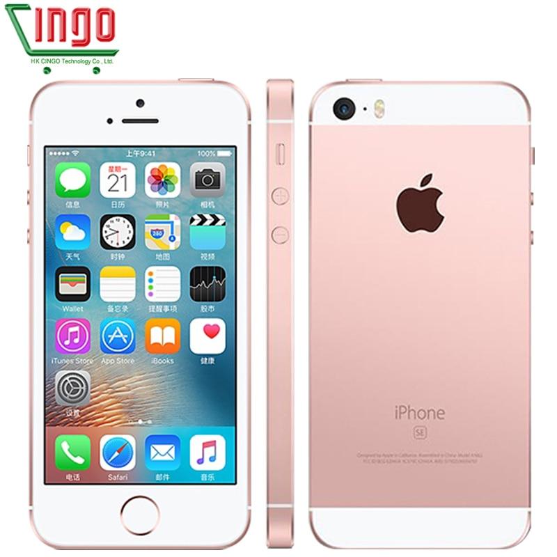 Apple iPhone desbloqueado Telefones Celulares SE LTE 4.0 '2 GB RAM 16/64GB ROM Chip A9 iOS 9.3 Dual-core Impressão Digital de Telefonia móvel