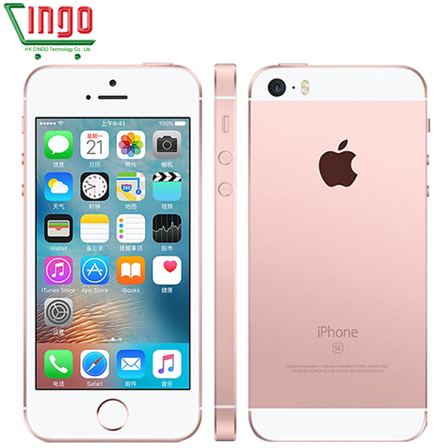 Original Unlocked Apple iPhone SE Cell Phones LTE 4.0' 2GB RAM 16/64GB ROM Chip A9 iOS 9.3 Dual-core Fingerprint Mobile Phone