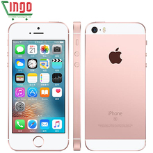 Original Unlocked Apple iPhone SE Cell Phones LTE 4.0′ 2GB RAM 16/64GB ROM Chip A9 iOS 9.3 Dual-core Fingerprint Mobile Phone
