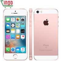 Teléfonos móviles Apple iPhone SE LTE 4,0 '2 GB RAM 16/64GB ROM Chip A9 iOS 9,3 teléfono móvil de doble núcleo de huella digital liberado