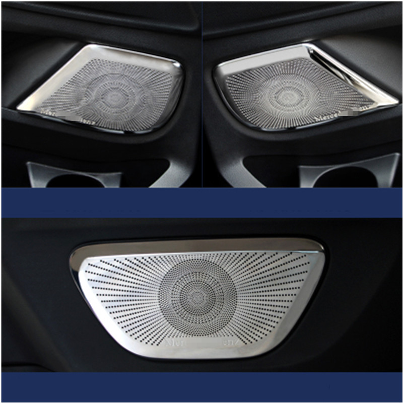 4pcs Stainless steel Interior Car Door Speaker Audio Ring Decoration Trim for Mercedes-Benz Vito 2016 car-styling Accessories sus304 stainless steel interior door speaker trim car styling cover accessories for mazda cx 5 kf 2nd gen 2017