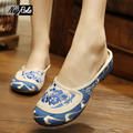 Hot sale Summer Fashion shoes women slippers Chinese embroidery women shoes Retro house flip flops sandals for women slides