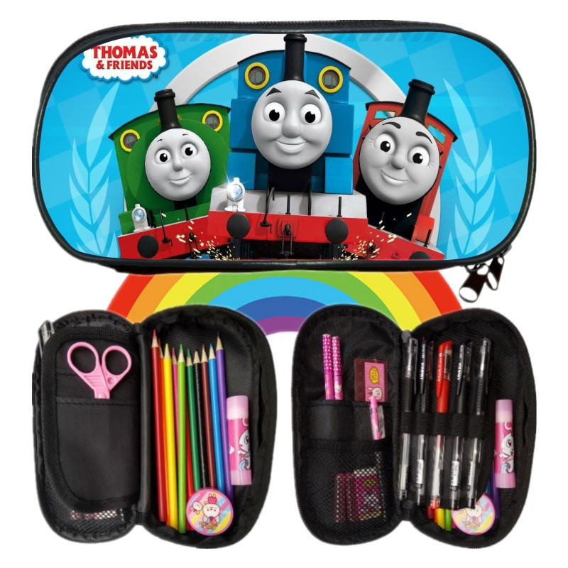 New Arrivals Printing Cartoon Thomas Friends Boys Girls Pencil Case Bag School Pouches Children Student Pen Bag Kids Coin Purses