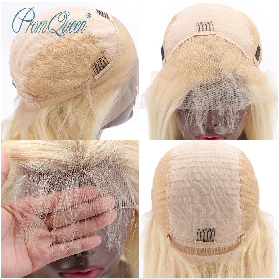 Promqueen cheveux pour femme 613 pleine dentelle perruque cheveux humains naturel droit cheveux humains pré plumé Hairline 613 blonde perruque de cheveux humains