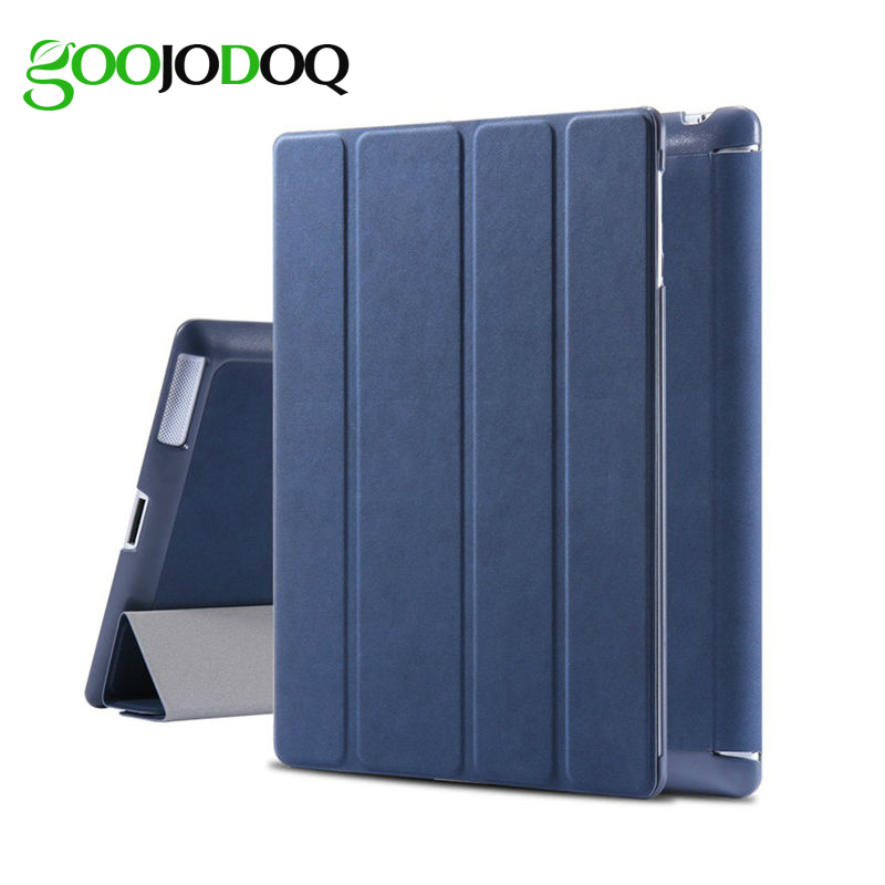GOOJODOQ For iPad 2 3 4 Case Original Magnetic Matte Deer PU Leather Smart Cover for Apple ipad 4 Case Tablet Auto Sleep/Wake up jisoncase luxury smart case for ipad 4 3 2 cover magnetic stand leather auto wake up sleep cover for ipad 2 3 4 case funda capa