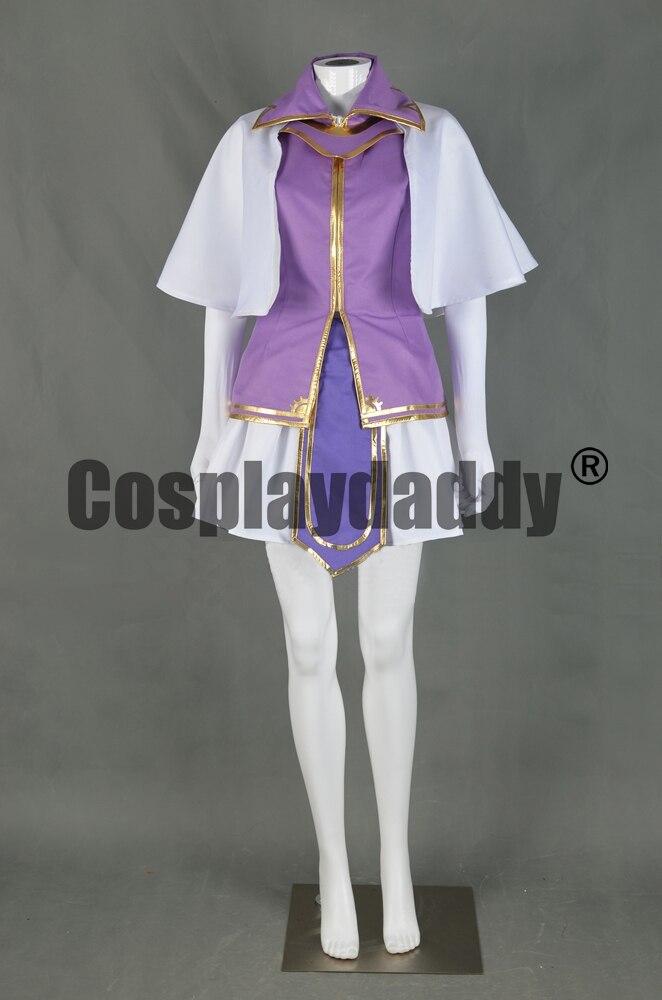 Emblème de feu: la lame de reliure l'épée de sceau Troubadour égoïste princesse Clarine robe tenue jeu Cosplay Costume F006