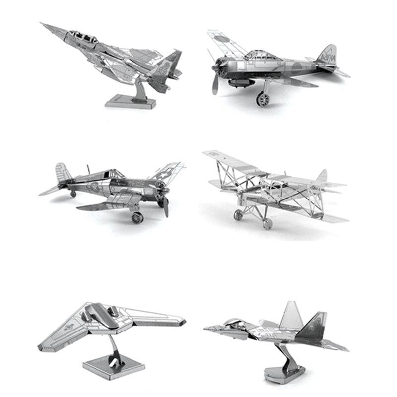 Sıcak Satış 3D DIY Metal Bulmaca Oyuncak Uçak Modeli Için çocuk/Yetişkin Hava Kuvvetleri Ekipmanları Silahlar Modeli En Iyi Noel Hediyesi Çocuklar oyuncaklar