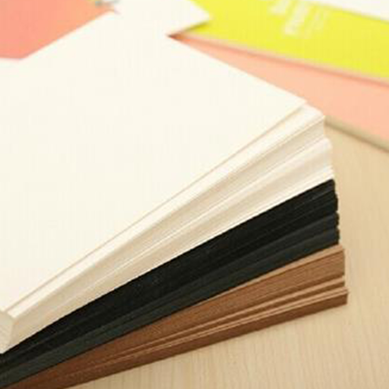 20PCS Blank Greeting Card Kraft Paper Postcard Vintage Blank Postcards DIY Hand Painted Graffiti Message Card  J2Y