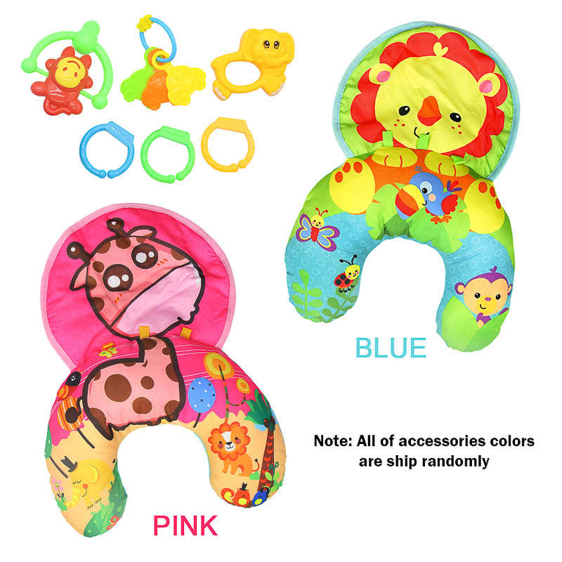 Soft Plush Baby Pillow Mat Animal Babyspeelgoed Bed Rattle Baby Toys Educational Newborn Stroller Toy Baby Toys 0-12 Months