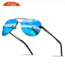 FRALU Men Vintage Aluminum HD Polarized Sunglasses Classic Brand Sun glasses Coating Lens Driving Shades For Men/Wome цена и фото