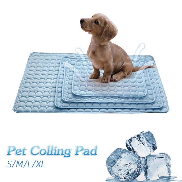 Verão Cobertor Esteiras De Resfriamento de Gelo Pet Sofá Cama Do Cão Portátil Turnê Acampamento Yoga Dormir Almofada Esteiras Para Cães Gatos Animais de Estimação acessórios