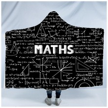 Plstar Cosmos Math science for boy Graphic funny  Hooded Blanket 3D full print Wearable Adults men women Einstein style4