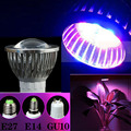 1pcs  E14 7W 6Red:4Blue SMD LED Grow Light Lamp for Flowering Plant and Hydroponics System 85-265V Free Shipping