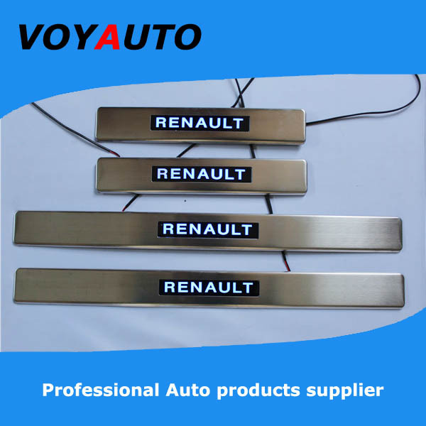 Stainless Steel RENAULT Scuff Plate,Led Door Sill Plate, Led - VOYAUTO CO.,LTD store
