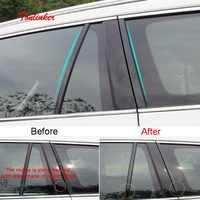 Tonlinker Abdeckung fall Aufkleber Für SKODA KODIAQ 2017-18 Auto styling 4 stücke ABS Kunststoff Hinten windows Spalte neben abdeckung Aufkleber