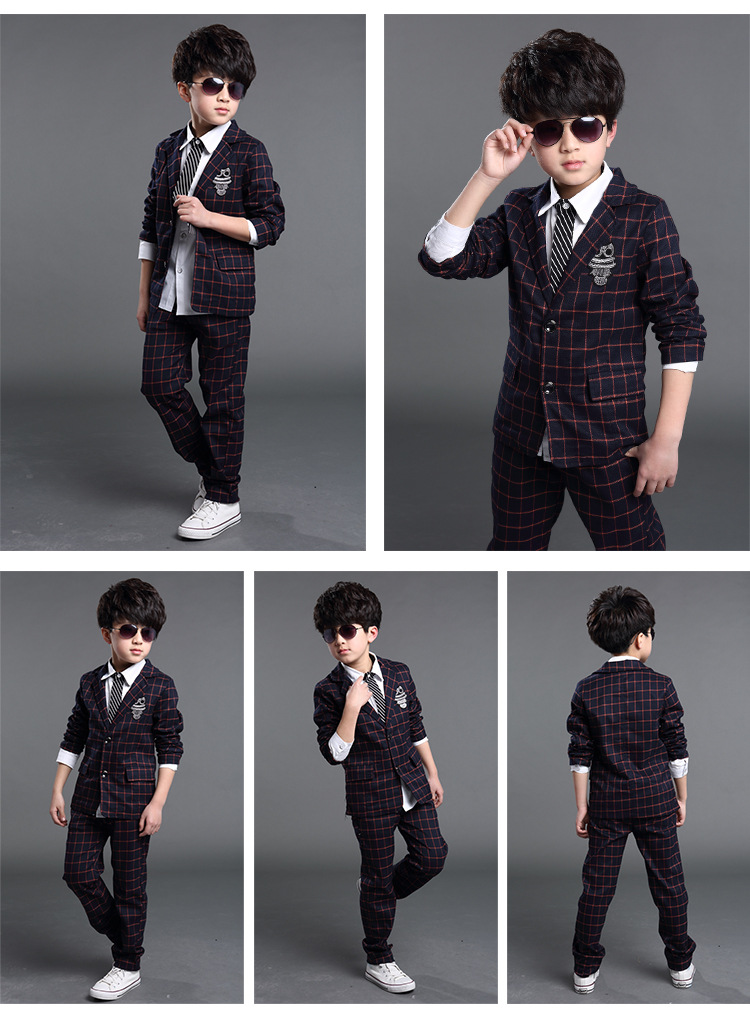c67c5126258 Detail Feedback Questions about New Stripe boys Blazer Pants Suits Wedding Suits  For Boys Tuexdo Children Clothing Set Boy Formal Single breasted 6 14T KS  ...