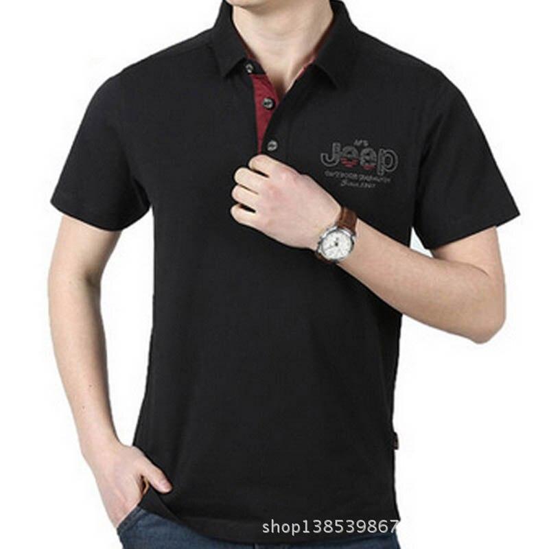 AFS JEEP Brand Summer Polo Shirt Men Casual Cotton Turn-down Collar Short Sleeve Breathable Men Polo Shirt Polos Para Hombre