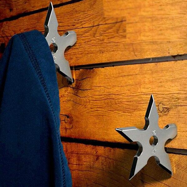 2pcs ninja coat hook creative death star hangers clothes robe hook decorative cloth wall bag