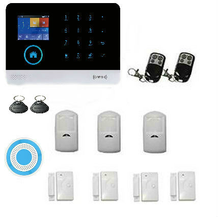 Yobang Security wifi GSM Alarm System TFT Android IOS APP Touch keypad Android ISO App Smart Home Burglar Alarm System DIY KIT fuers ios android app touch keypad