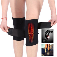 2 Pcs Self-Heating Knee Support Cold-Proof Adjustable Tourmaline Magnetic Therapy Pad Arthritis Brace Protective Belt WS woolen windproof cold proof knee pad off white pair set
