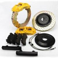 KOKO RACING желтый цвет тормозных колодок для тормозной системы с GT6 тормозной суппорт большой 6 горшок для Гольф MK5/MK6