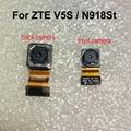 1 pçs/lote Original Frente pequeno ou Grande Voltar Câmera Traseira Módulo Flex cabo para o telefone zte v5s n918st frete grátis com código de pista