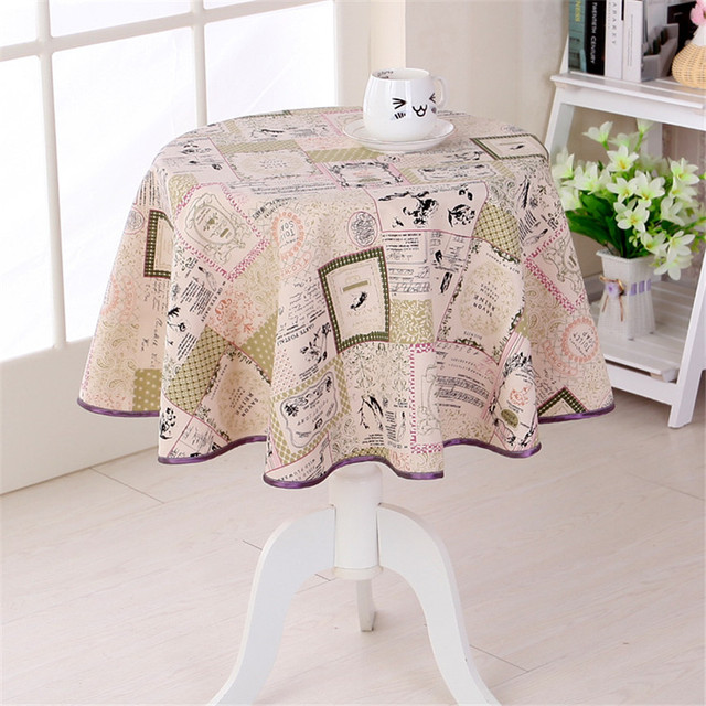 Japan Style Cotton Linen Tablecloth 3 Desings Round Dining Table Cloth  Nature Freshness Home Decorative Table