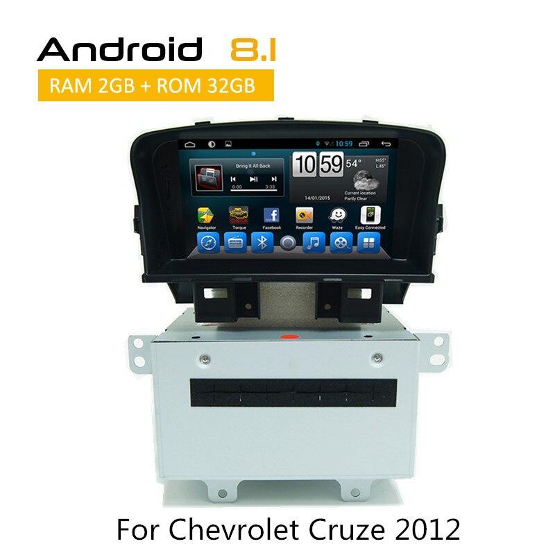 2 Din autoradio pour Chevrolet Cruze 2008 2009 2010 2011 2012 2013 2014 2015 Android voiture gps navigation auto lecteur Radio RDS